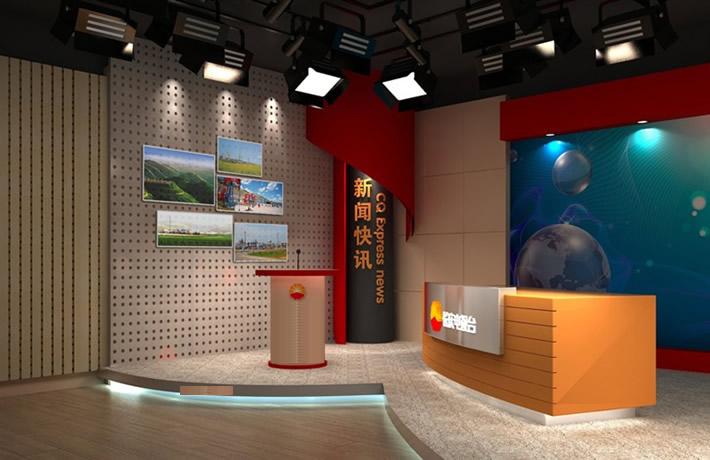 實景演播室聲學光學裝修設計 引言   新聞口播訪談演播室是各電視臺